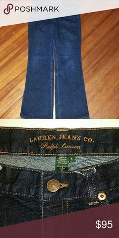 Ralph Lauren Jeans/Like NEW, worn 1x🔥💄👠♨ Authentic R.L.. Dark blue wash, boot cut. Worn once. Very flattering and comfortable unless you get pregnant or gain 10/15 lbs. 😄😄😄 You can pair them with anything and everything! 2 back pockets & 2 side pockets in the front. Worn once, like new!  FREE gift with purchase.  All items are sent clean & recorded prior to shipping :)  All proceeds go to a non profit volunteer based dog & cat rescue to help with vetting costs. Jeans Boot Cut