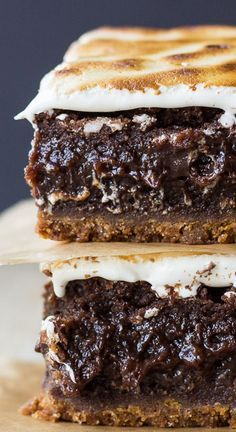 Decadent S'mores Brownies