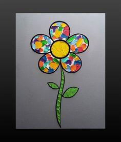 Flower 16 x 20 in. Canvas #LiteralPopArt #PopArt #Art #Flowers #Petals #Nature #Garden Organic #Green #GoingGreen #MultiColor #SplatterPaint #MichaelCrayola #2017