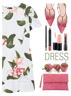 """""""dreamy dress"""" by katymill ❤ liked on Polyvore featuring MANGO, Kate Spade, MAC Cosmetics, Mint Velvet and dreamydresses"""