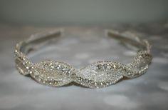 SALE Wedding Headband Wedding Rhinestone Headband by BrassLotus, $29.95