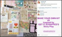 September 2014:  Daily blog series at kissandtellscrapbooking.com with scrapbook process videos and layouts inspired by Get It Scrapped's Story Play.