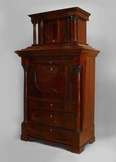 Biedermeier German  Austrian cabinet/case-piece secretary mahoga