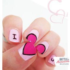 Battle de manucures valentine #nail #nails #nailart