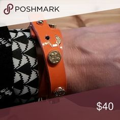 Tory Burch Bracelet Leather Tory Burch bracelet. In nice used condition. Gold studs look great. No trades. Tory Burch Jewelry Bracelets