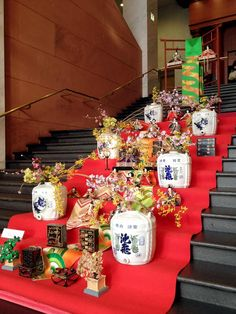 Celebrate the Girls' Festival, wish for girls'    growth and happiness. It is called Hina-maturi(the Doll's Festival) is held on March annually. This photo taken at the Mojiko Hotel entrance stair, March 2015 March 3rd, Yamaguchi, Fukuoka, Entrance, Happiness, Girls, Toddler Girls, Entryway, Bonheur