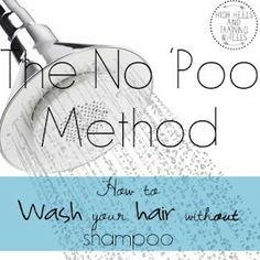 No Poo Method. Interesting.... I don't think I could do this all the time, but maybe every so often.