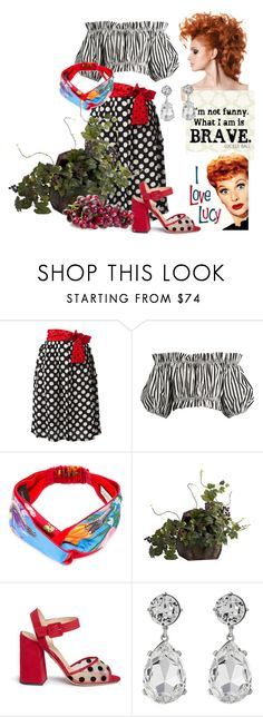 """Be Brave Like Me- Stomp Grapes!"" by glamourgrammy ❤ liked on Polyvore featuring Diesel, Dolce&Gabbana, Gucci, Nearly Natural, Charlotte Olympia, Kenneth Jay Lane, ilovelucy and lucilleball"