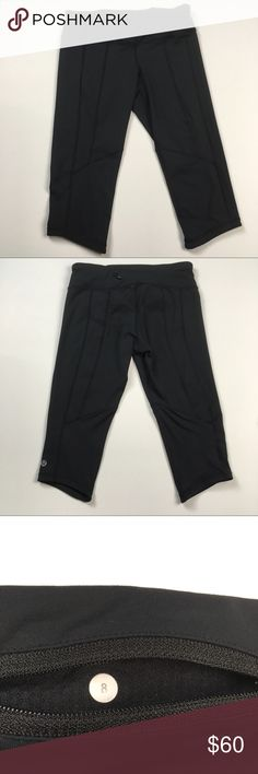 Lululemon Run Turbo Crops Black Capri Pants Size 8 Lululemon Run Turbo Crops Black Capri Pants Women's Size 8. Excellent condition! Clean and comes from smoke free home. Questions welcomed. lululemon athletica Pants