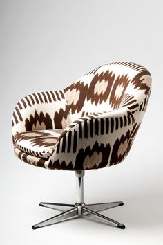 Madeline Weinrib Brown Collins Ikat Chair