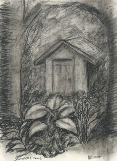 Southford Falls Shed in the Woods Original by LuckyMintStudio