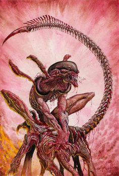 Fuck, this #Alien artwork by UK artist Kevin Crossley is intense! Check out more of his work http://www.kevcrossley.com/