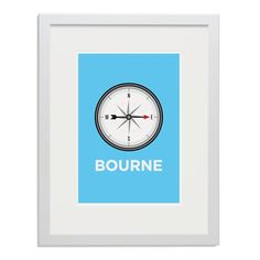 Pate Eastbourne Neighbourhood Pun Art Poster Print White Frame