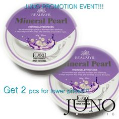 promotion event 2 x Patches for eyes Juno Mineral Pearl hydrogel 60 pcs Skin Elasticity, Promotion, Patches, Cosmetics, Pearls, Beauty Stuff, Eyes, Face, Minerals