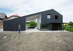 Minimalist Black Home in Austrian Countryside | Modern House Designs