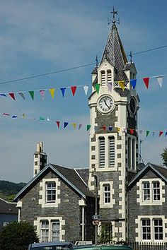The Clock Tower, Moniaive, Dumfries & Galloway Tower House, Bunting, Britain, Scotland, Tours, Kites, Explore, Street, Places