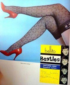 holy crap // the beatles nylons Beatles Poster, Beatles Love, Les Beatles, Swinging London, John Lennon Paul Mccartney, Stella Mccartney, Nylons, George Martin, The Fab Four