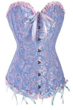 Sugar and spice and everything nice, that's what this corset is made of! The Violet Vixen - Cotton Candilicious Violet Corset, $54.99 (http://thevioletvixen.com/corsets/cotton-candilicious-violet-corset/)