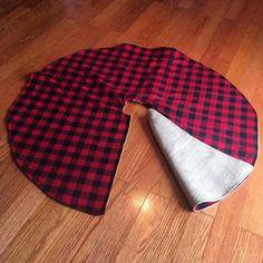 Napkins Buffalo Plaid Red and Black with Velvet Pom Pom Trim Design Christmas Tree Skirt Table Runner Pillow