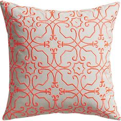 """revival embroidered 20"""" pillow with down-alternative insert in pillows 