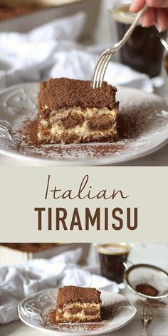 Baking Recipes, Snack Recipes, Dessert Recipes, Cake Recipes, Nutella Recipes, Dessert Cups, Traditional Tiramisu Recipe, Traditional Italian Desserts, Easy Tiramisu Recipe