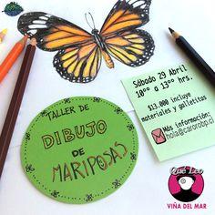✨🎤 Mariposas amarillas💛... 🤔🤔🤔.... rojas❤️, azules💙, multicolores💚💜💕... todas son preciosas! 💛  ✏️ Taller de Dibujo de Mariposas  🚩 en @queleovina 📍 6 Poniente 150, local 4.  🗓 Sábado 29 Abril  ⏰ 10-13 hrs.  💲13.000 (incluye materiales y galletitas).  💌 Para recibir más información, escribe a hola@carorobp.cl 😘 #dibujo #drawing #sketch #color #drawingoftheday #taller #workshop #viña #viñadelmar #mariposa #mariposas #butterfly #papillon #butterflies