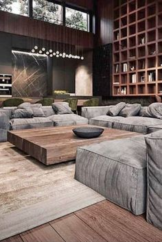 Home Interior Design Basment.Home Interior Design Basment Home Living Room, Interior Design Living Room, Living Room Designs, Interior Modern, Urban Interior Design, Spacious Living Room, Luxury Interior, Modern House Design, Home Decor Inspiration
