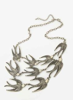 short swallow necklace - I love this!!!!!!!!!!!!!!!!