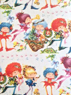 Vintage Christmas Wrapping Paper Gift Wrap Musical by TakeTheCake