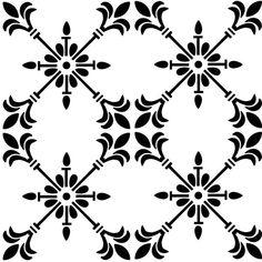 Reusable Laser-Cut Floor or Wall Tile Stencil Bar Design, Tile Design, Stencil Art, Stencil Designs, Tile Stencils, Wood Burning Tool, Hand Painted Wallpaper, Wedding Coasters, Karim Rashid
