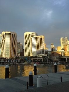 Darling Harbour as the sun sets