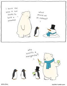 30 Ultra Cute Animal Comics By Simpsons Artist Liz Climo Funny Animal Comics, Animal Memes, Funny Comics, Funny Animals, Cute Animals, Happy Comics, Funny Cute, Funny Shit, Hilarious