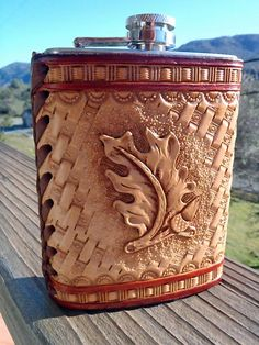 Tooled Leather Covered, 8 oz Flask $54.58 MXS