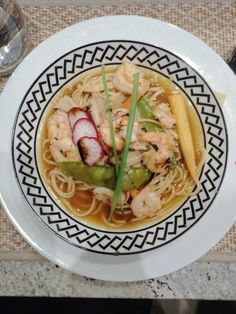 Prawn & Noodle Soup recipe by Saadia Mohammed posted on 07 Jan 2020 . Recipe has a rating of by 2 members and the recipe belongs in the Seafood recipes category Carrot And Coriander, Fresh Coriander, Seafood Recipes, Soup Recipes, Chicken Recipes, Soup Broth, Stuffed Mushrooms, Stuffed Peppers, Mushroom Pasta