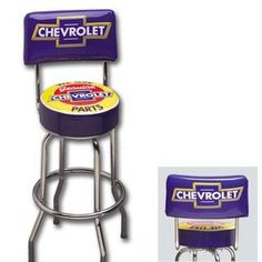 Chevrolet Padded Shop Stool Car Guy Garage Shop Stools