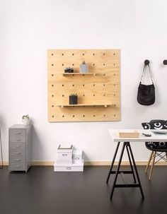 Bang Bang Pegboard available here, Global Shipping. This beautiful office was styled by Sophie Peacocke for homestyle magazine.