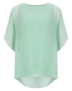 Angel Sleeve Silk Bl