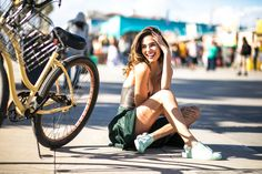 Lutreet | Exclusive Designer Sneakers shoes women sneakers fashion outfit green yellow bike girl mint boulevard edition venice beach young style blogger