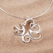 Sterling Silver Octopus Pendant
