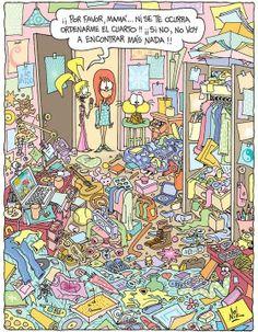 ¿Qué hay? ¿Dónde está? Ordena a Gaturro que limpie su habitación