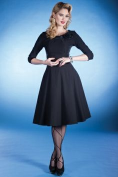 Retro! 50's First Lady Swing Dress - the perfect, simple, little black dress that every woman has to have!