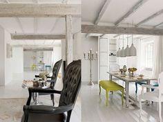 Uma ousada casa de campo.  http://chandelierlux.wordpress.com/2013/02/06/uma-ousada-casa-de-campo/#