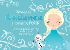 Frozen Inspired Princess Snowflake Elsa by DazzlingDarlings, $15.00