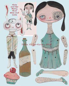 Alice in Wonderland Goth Paper Doll Printable