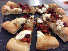 Holiday Entertaining Idea - Caramelized Onion, Cranberry Chutney & Chevre Pizza