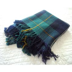 English Tartan Throw, Plaid Wool Blanket, Fringed Travel Rug, Rustic... (455 HRK) ❤ liked on Polyvore featuring home, bed & bath, bedding, blankets, tartan plaid throw, tartan throws, tartan wool blanket, wool throw blanket and plaid throw blanket