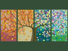 I want to do something like this and represent the seasons even more. pretty!