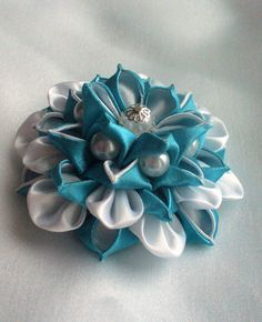 Brooch from flowers kanzashi