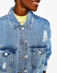 Ζακἐτες - ΡΟΥΧΑ - ΓΥΝΑΙΚΑ - Bershka Greece Denim Button Up, Button Up Shirts, Sephora, Jackets, Tops, Fashion, Down Jackets, Moda, Fashion Styles