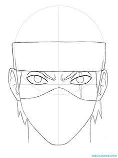 Como dibujar a Kakashi Hatake (rostro y cuerpo) Naruto Shippuden Kakashi Drawing, Naruto Sketch Drawing, Anime Boy Sketch, Anime Drawings Sketches, Manga Drawing, Wallpaper Naruto Shippuden, Naruto Wallpaper, Naruto Shippuden Anime, Naruto Art